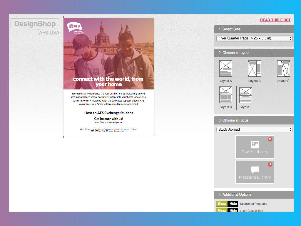 Design Shop screen grab